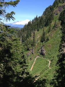 Mt. Baker and switchbacks