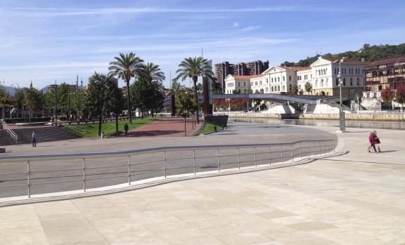 Bilbao's riverfront