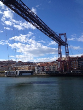 Portugalete Bridge in Bilbao