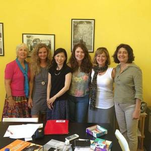 Classmates from around the world at Lucca Italian School