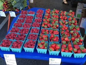 Berries at the market