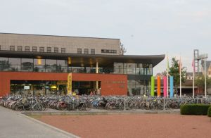 Bikes at the Berchem Train Station