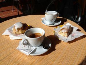 caffè doppio and cappuccino