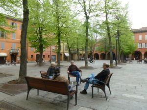 Quiet Piazza in Reggio