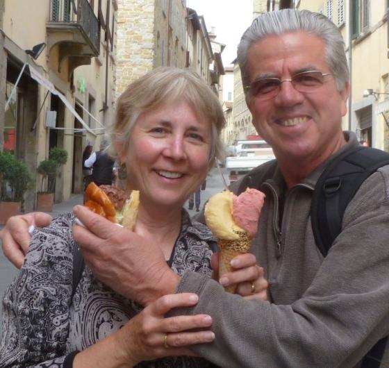 Arezzo and gelato