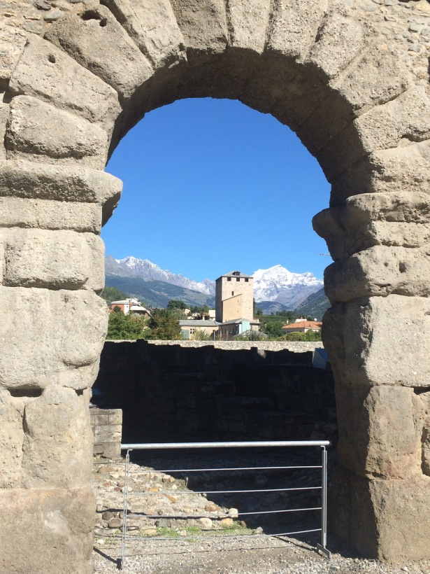 View from Aosta City Gate