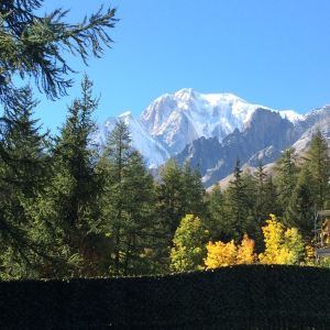 Mont Blanc from the sunny side
