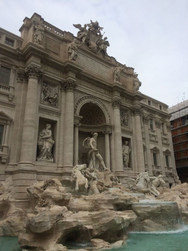 Spruced up Trevi Fountain